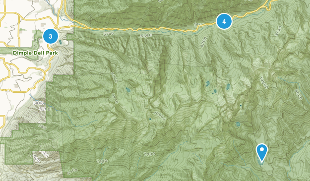 Lone Peak Wilderness Camping Map