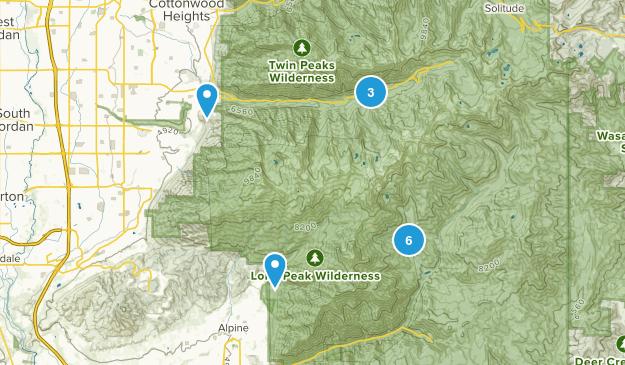 Lone Peak Wilderness Snowshoeing Map