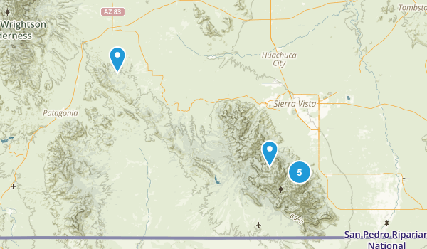 Miller Peak Wilderness Hiking Map