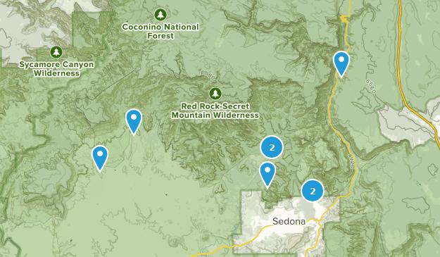 Red Rock-Secret Mountain Wilderness Bird Watching Map