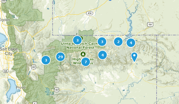 Map of Trails near High Uintas Wilderness - Utah | AllTrails