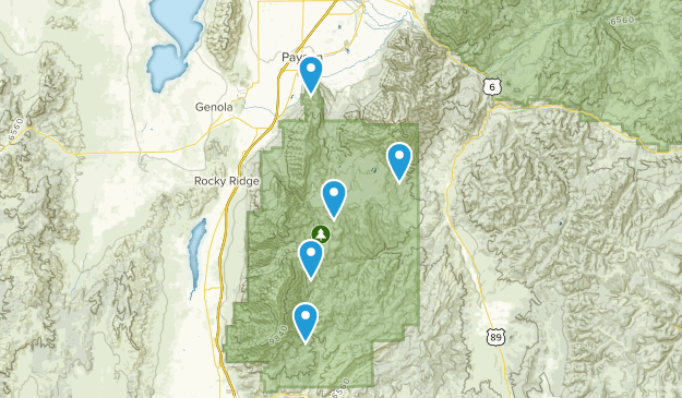 Mount Nebo Wilderness Nature Trips Map