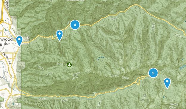 Twin Peaks Wilderness No Dogs Map