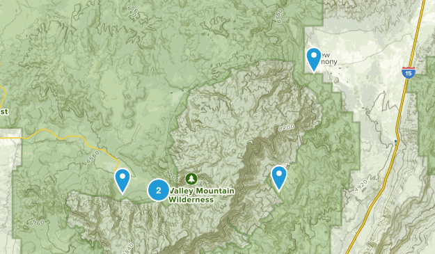 Pine Valley Mountain Wilderness Hiking Map