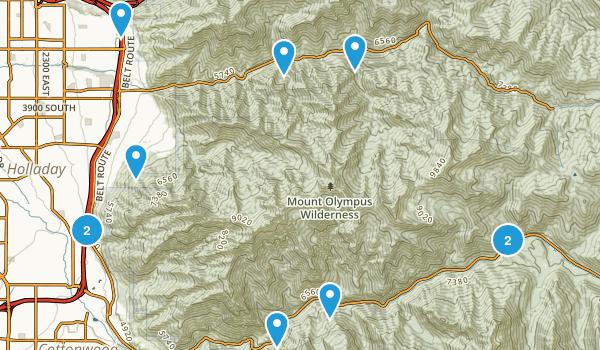 Best Trail Running Trails In Mount Olympus Wilderness - Olympus map