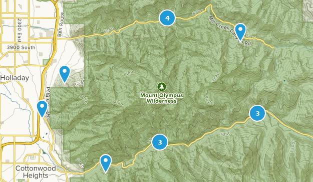 Mount Olympus Wilderness Walking Map