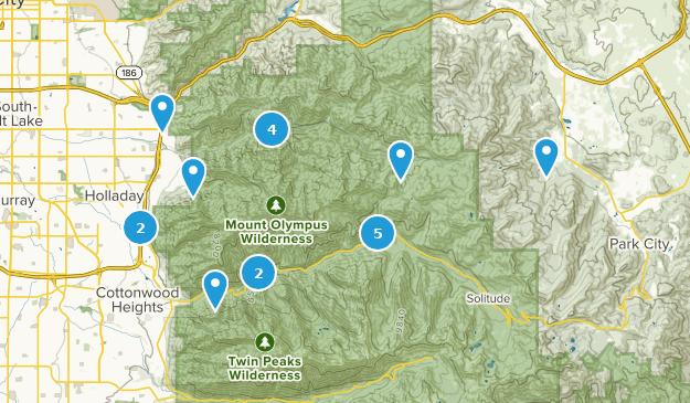 Mount Olympus Wilderness Wild Flowers Map