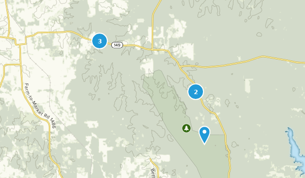 Désert de Little Lake Creek Nature Trips Map