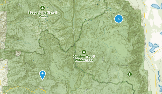 Golden Trout Wilderness Camping Map