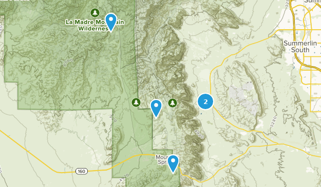 Rainbow Mountain Wilderness Nature Trips Map