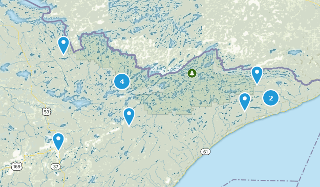 Superior National Forest Birding Map