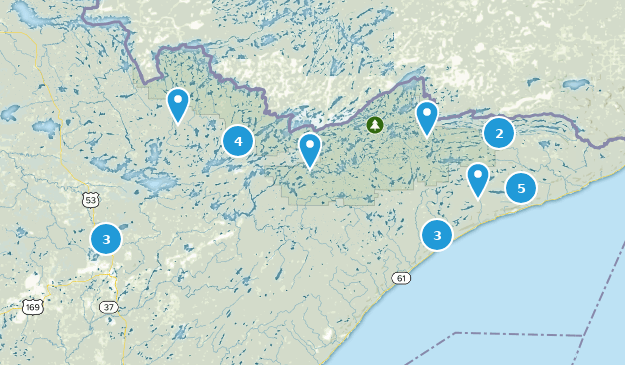 Superior National Forest Forest Map