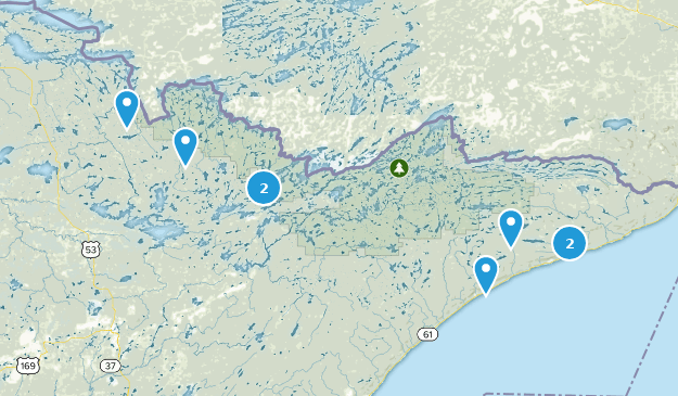 Superior National Forest River Map