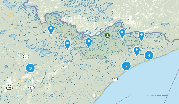 Superior National Forest Trail Running Map