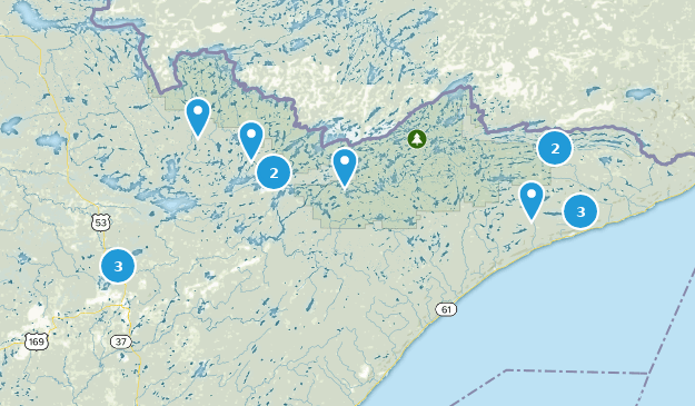 Superior National Forest Wildlife Map