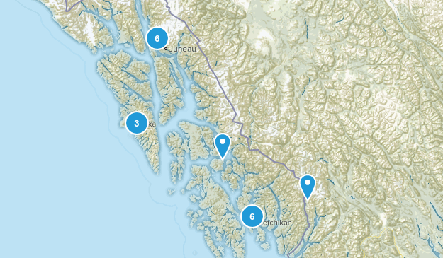 Tongass National Forest Trail Running Map