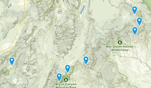 Dixie National Forest Fishing Map