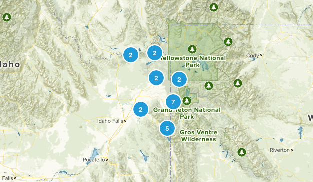 Targhee National Forest Nature Trips Map