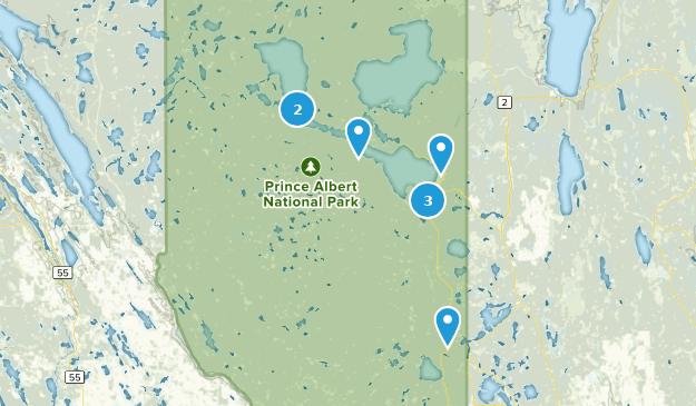 Parc national du Canada de Prince Albert Nature Trips Map