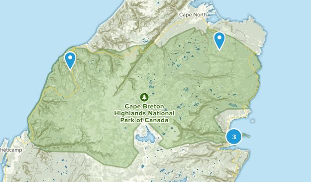 Cape Breton Highlands National Park Of Canada Bird Watching Map