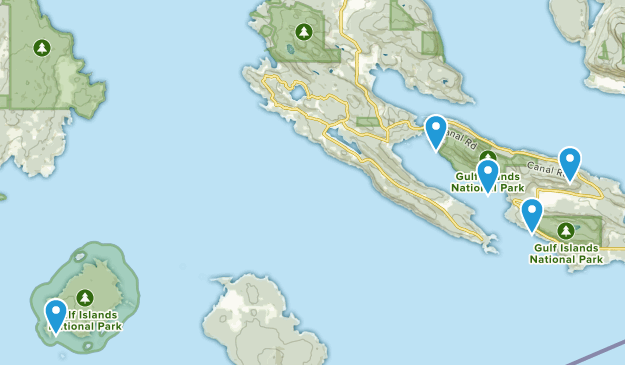 Gulf Islands National Park Reserve Of Canada Hiking Map