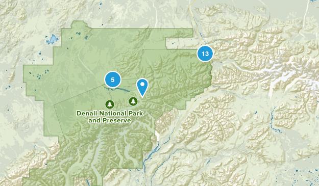 Denali National Park Hiking Map