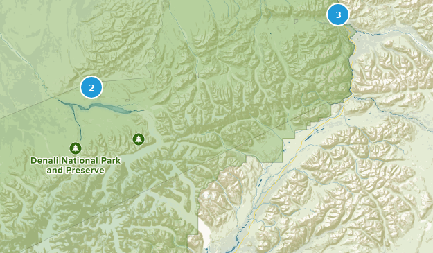 Denali National Park Lake Map