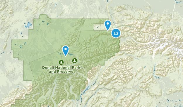 Denali National Park Walking Map