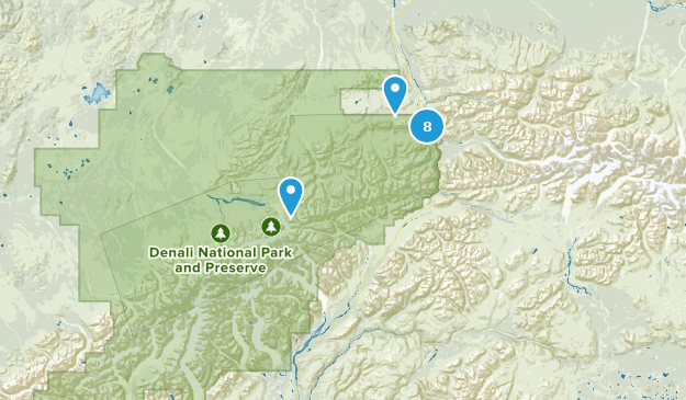 Denali National Park Wild Flowers Map