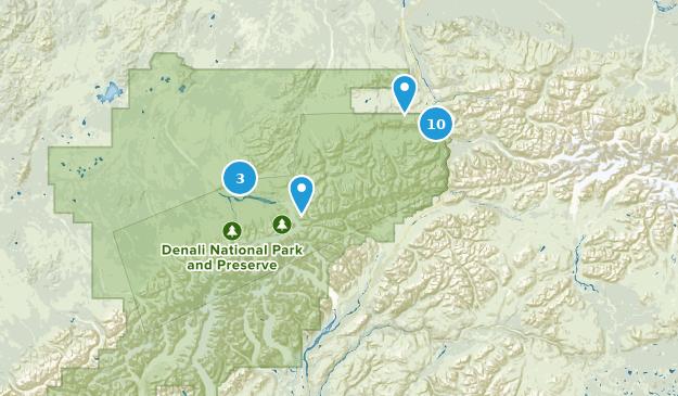 Denali National Park Wildlife Map