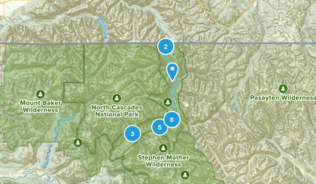 Zone de loisirs nationale de Ross Lake Nature Trips Map