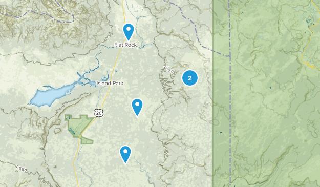 Island Park/Yellowstone Trail Running Map