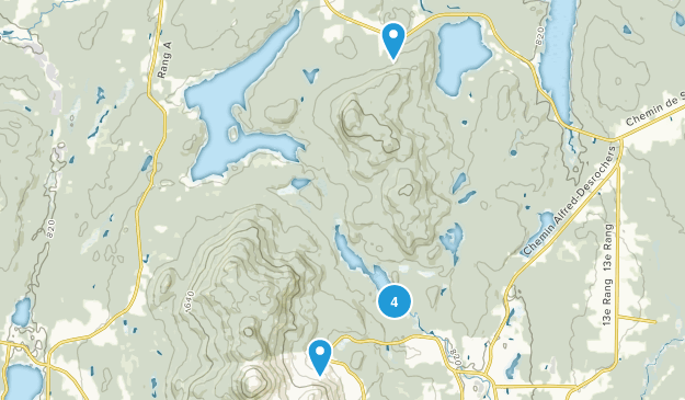 Parc National du Mont-Orford Snowshoeing Map