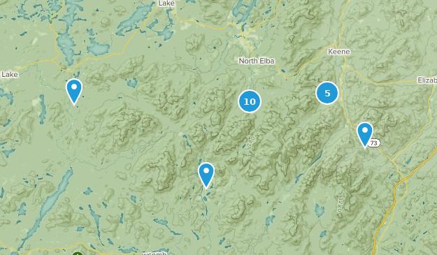 High Peaks Wilderness Snowshoeing Map