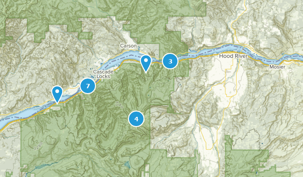 Best Lake Trails In Columbia River Gorge National Scenic Area - Columbia-river-map-us
