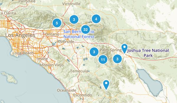 San Bernardino National Forest Birding Map