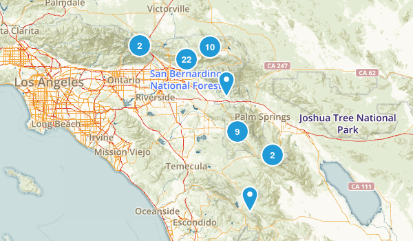 San Bernardino National Forest Dog Friendly Map