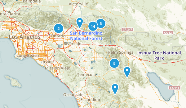San Bernardino National Forest Mountain Biking Map