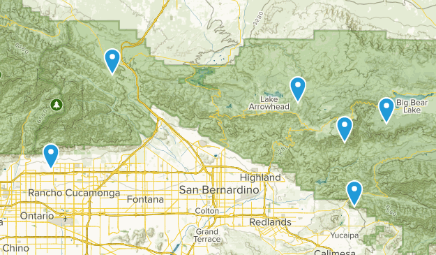 San Bernardino National Forest Rock Climbing Map