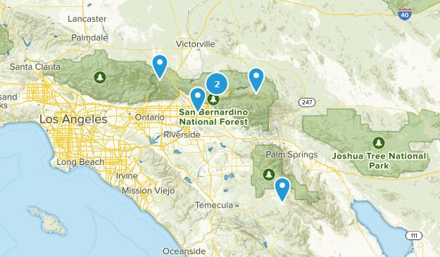 San Bernardino National Forest Scenic Driving Map