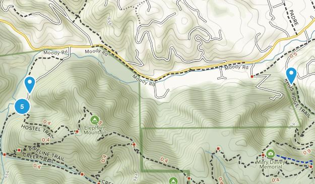 Villa cachée Hiking Map
