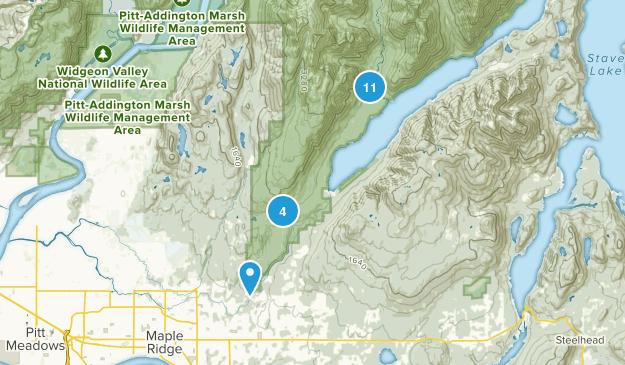 Golden Ears Provincial Park Hiking Map