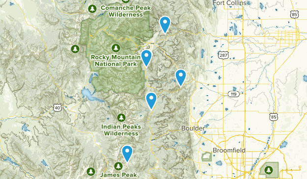 Roosevelt/Arapaho National Forest Nature Trips Map