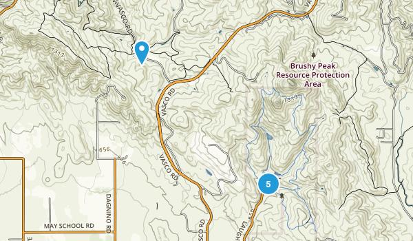 Brushy Peak Natural Resource Area Walking Map