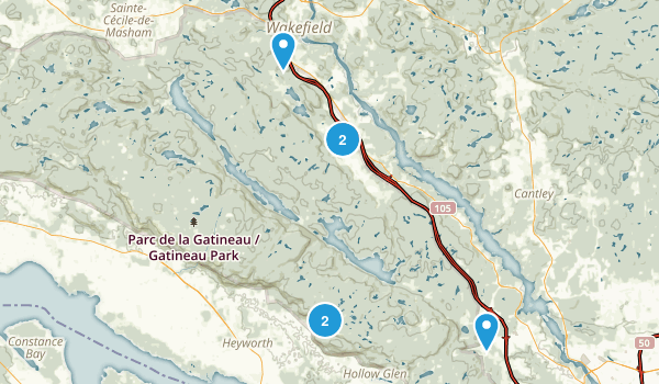 Best Snowshoeing Trails In Gatineau Park Photos Reviews - Gatineau map