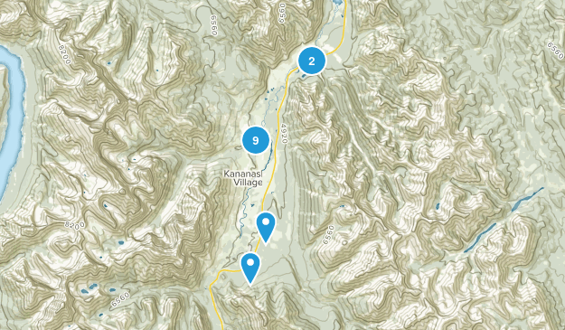 Zone de loisirs provinciale Evan-Thomas Hiking Map