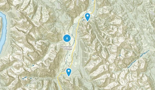 Evan-Thomas Provincial Recreation Area Nature Trips Map