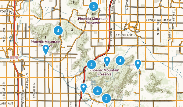 Best trail running trails in phoenix mountain preserve 2070 phoenix mountain preserve trail running map sciox Choice Image