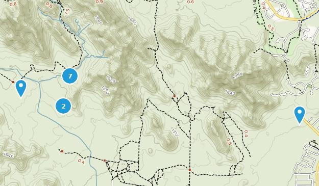Skyline Regional Park Hiking Map