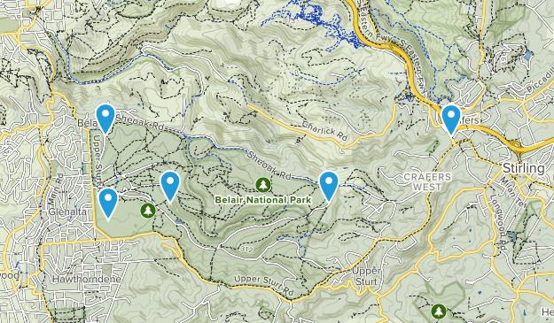 Belair National Park Hiking Map